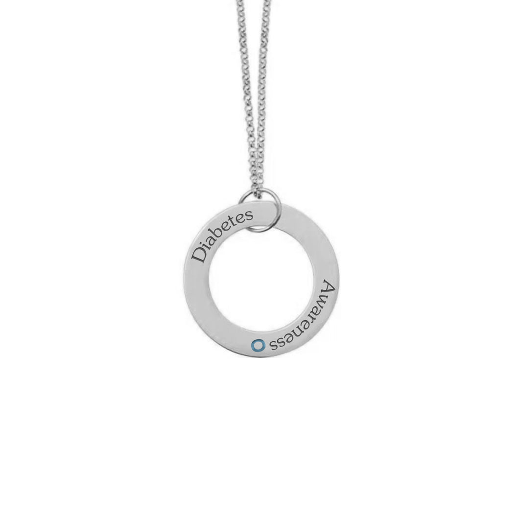 White Gold Plate with Sterling Silver Necklace-Hanging Low