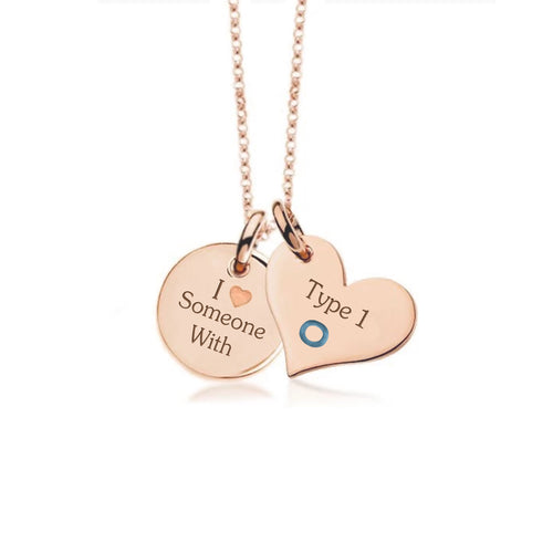 Rose Gold Plate with Sterling Silver Necklace-Not so sweet heart