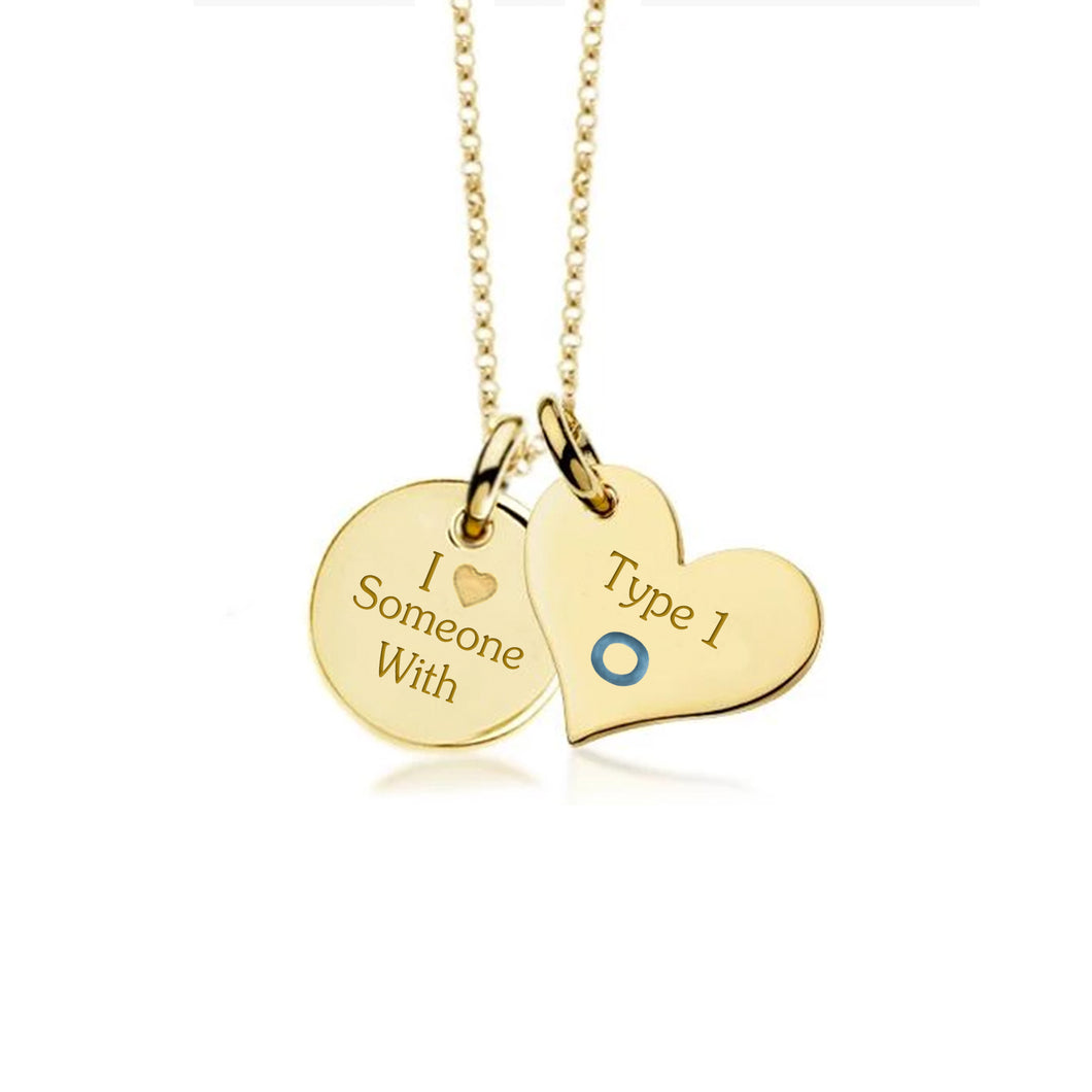Yellow Gold Plate with Sterling Silver Necklace-Not so sweet heart