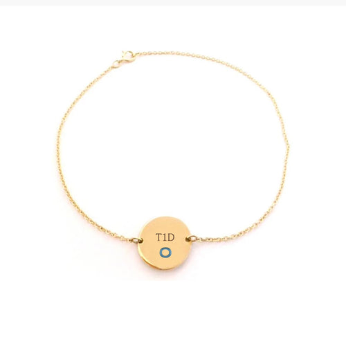 Yellow Gold Plated with Sterling Silver Bracelet-Pin Cushion