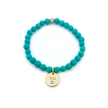 Load image into Gallery viewer, Yellow Gold Charm-Feeling Blue