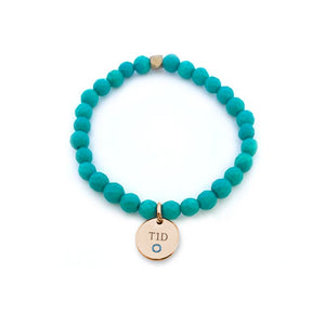 Yellow Gold Charm-Feeling Blue