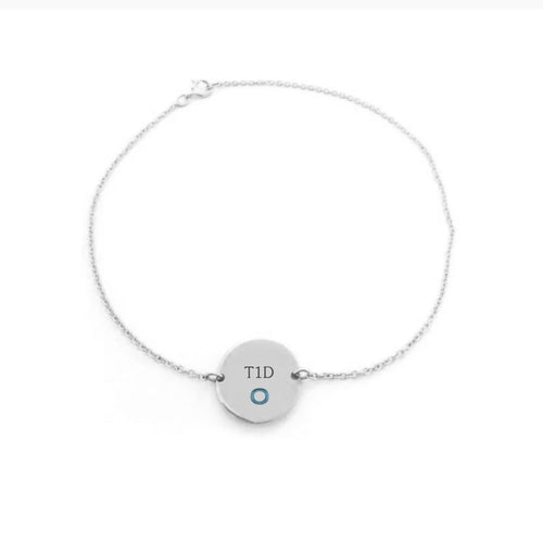 White Gold Plated with Sterling Silver Bracelet-Pin Cushion