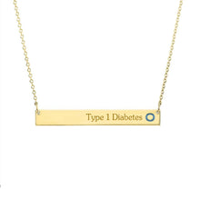 Load image into Gallery viewer, Yellow Gold Plated with Sterling Silver Necklace-Stable Bar