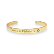 Load image into Gallery viewer, Yellow Gold Plate with Sterling Silver Bracelet- Carbs n Cuffs