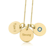"Load image into Gallery viewer, White Gold Plate with Sterling Silver-Hang in there ""3 Circles"""
