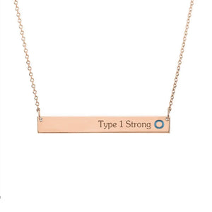 Yellow Gold Plated with Sterling Silver Necklace-Stable Bar