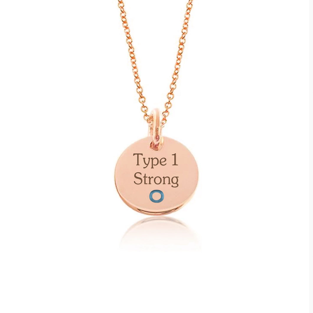 Rose Gold Plate with Sterling Silver-Hang in there
