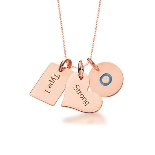 Rose Gold Plate with Sterling Silver Necklace-Not so sweet heart + tag