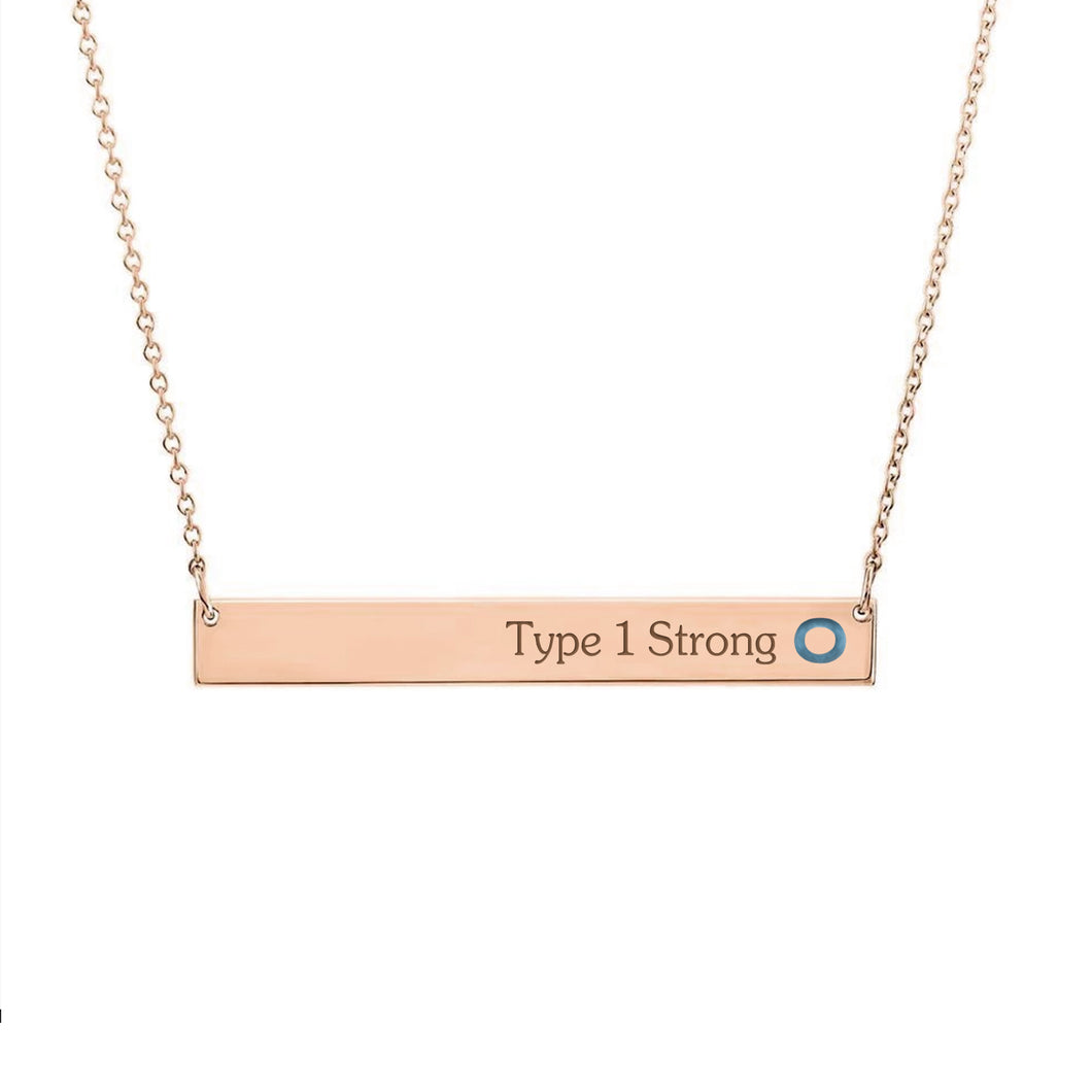 Rose Gold Plated with Sterling Silver Necklace-Stable Bar