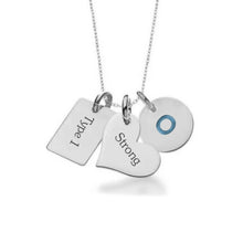 Load image into Gallery viewer, White Gold Plate with Sterling Silver Necklace-Not so sweet heart + tag