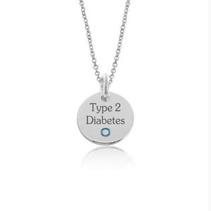 "White Gold Plate with Sterling Silver-Hang in there ""1 Circle"""
