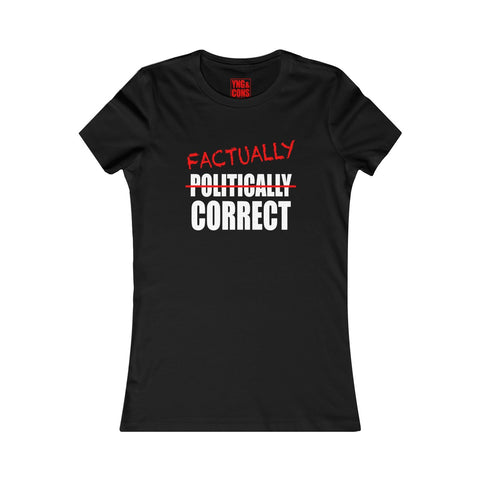 Women's Factually Correct White T-shirt