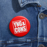 Young & Conservative Logo Pin Buttons