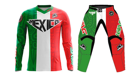 YOUTH KANG MX GREEN/WHITE/RED KIT