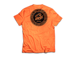 KR RACEWEAR LOGO ORANGE HEATHER/BLACK TEE