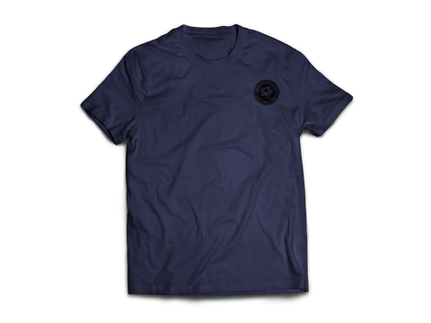 KR RACEWEAR LOGO HEATHER NAVY/BLACK TEE