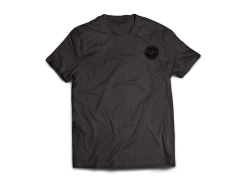 KR RACEWEAR LOGO CHARCOAL HEATHER/BLACK TEE