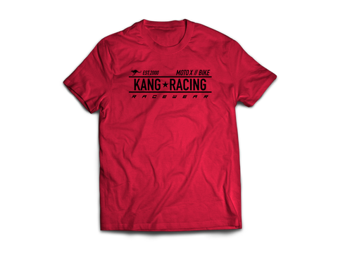KR RACE RED HEATHER/BLACK TEE