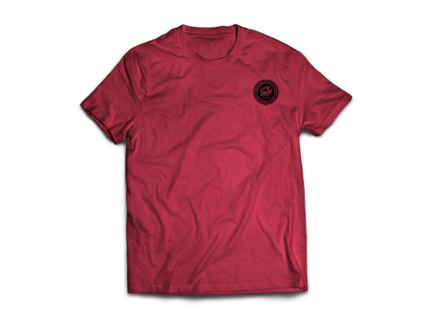 KR RACEWEAR LOGO RED HEATHER/BLACK TEE