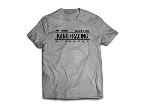 KR RACE GREY HEATHER/BLACK TEE