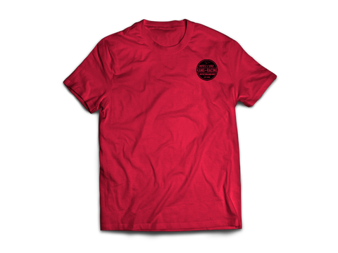 KR CIRKLE RED HEATHER/BLACK TEE