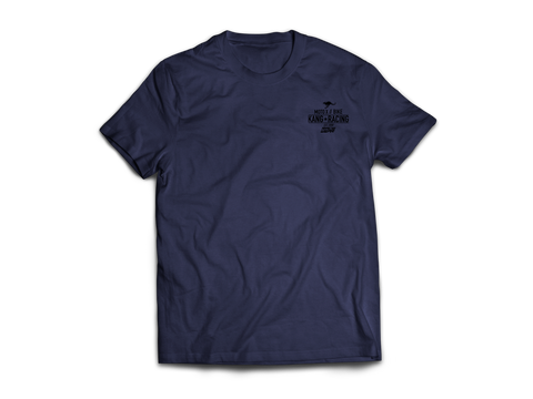 KR COMP HEATHER NAVY/BLACK TEE