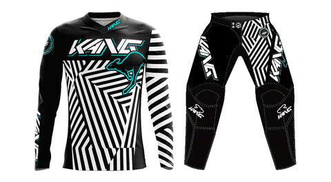 YOUTH KANG DAZZLE CAMO WHITE/AQUA KIT