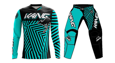 YOUTH KANG DAZZLE CAMO AQUA/BLACK KIT