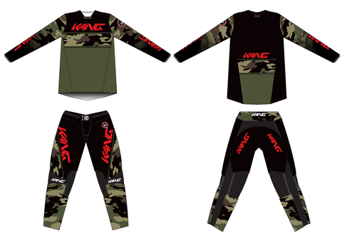 KANG CAMO GREE-RED KIT