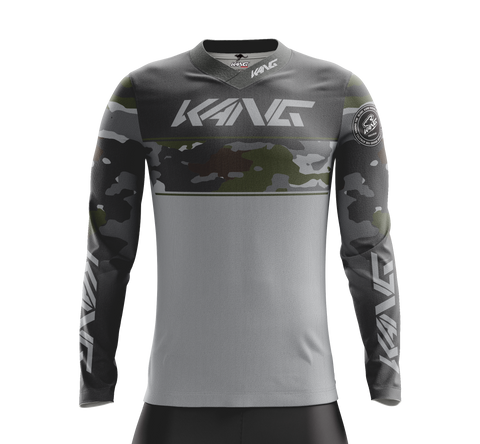 JERSEY KANG CAMO GREY-BROWN