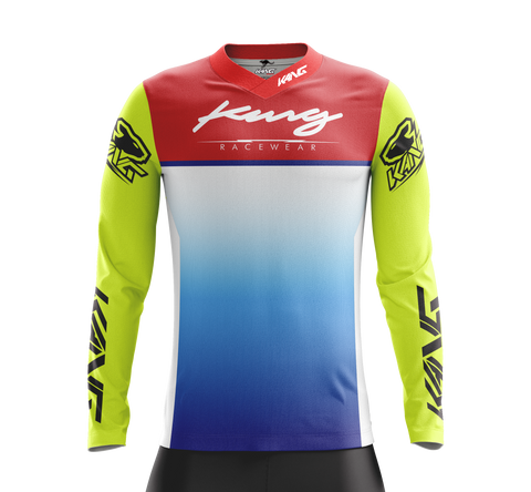 JERSEY KANG RETRO FLO BLUE-RED