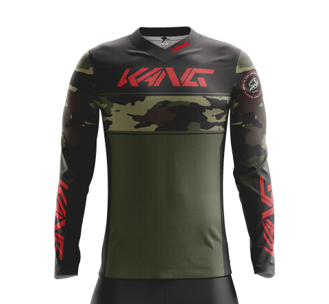 JERSEY KANG CAMO GREEN-RED