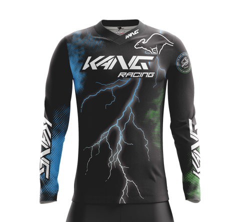 JERSEY KANG THUNDER GREEN-BLUE