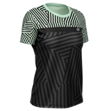 PLAYERA KARDIO K-FLEX DAMA DAZZLE LIGHT GREEN PRINT