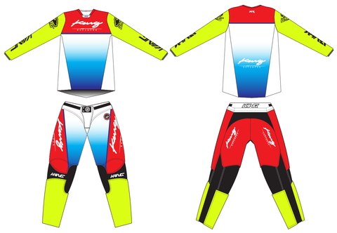 KANG RETRO FLO BLUE-RED KIT
