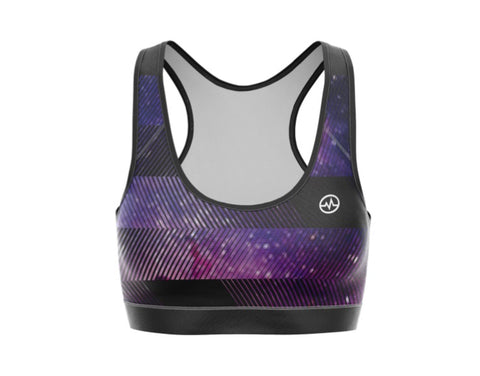 TOP KARDIO K-FLEX DAMA SPORTS BRA GALAXY PURPLE PRINT