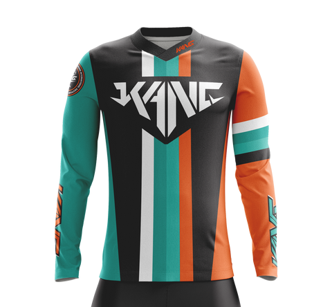 JERSEY KANG COLORMETRIK AQUA/ORANGE