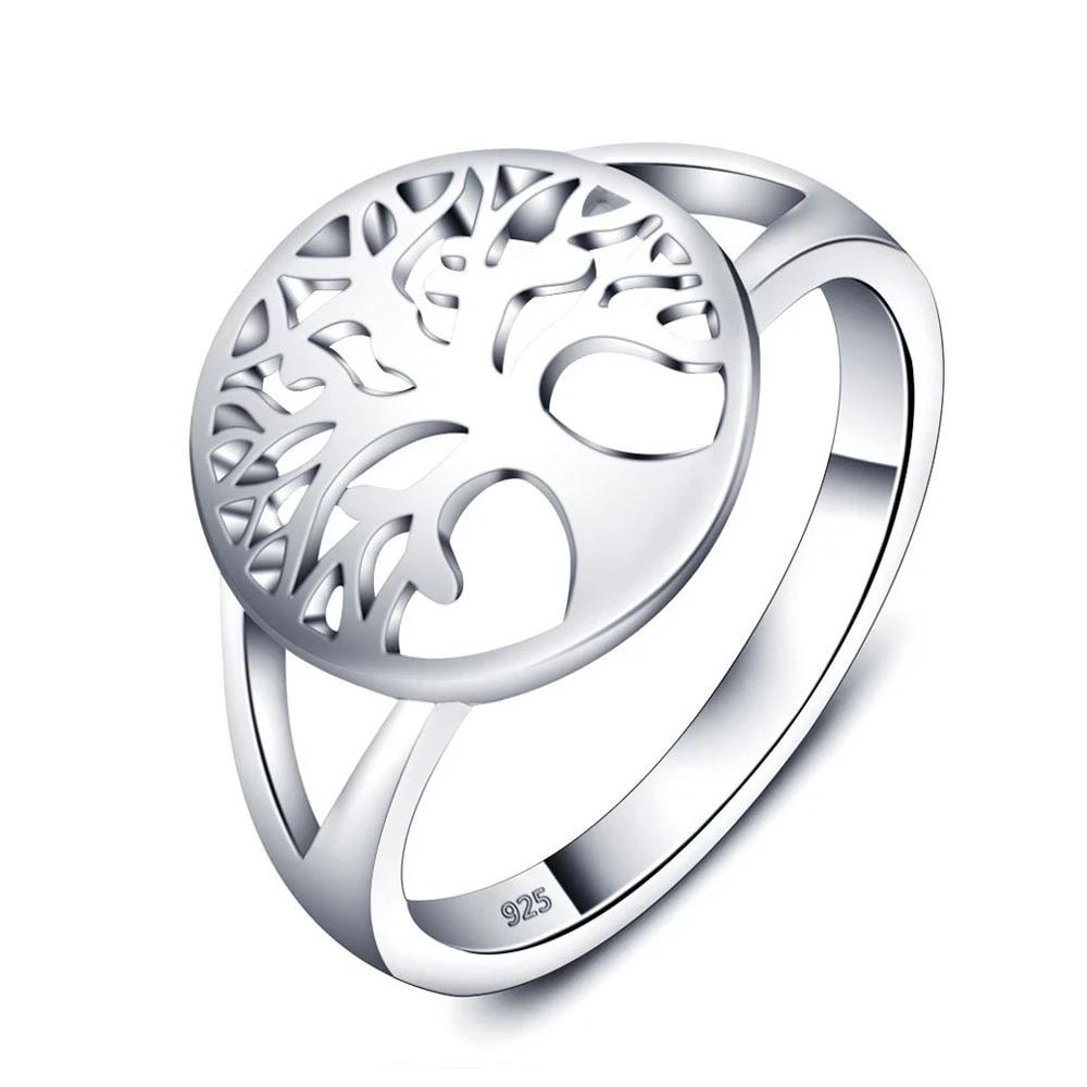Classic Tree Of Life 925 Sterling Silver Rings For Women Fashion Women Rings Accessories Mothers Day Gifts