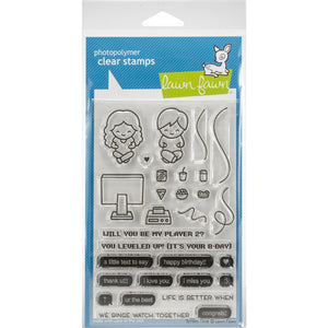 Lawn Fawn Clear stamp set -  Screen Time