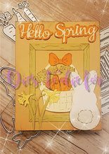Load image into Gallery viewer, Dies ... to die for metal cutting die - Spring seasons Words with Shadow - Hello Showers Flowers