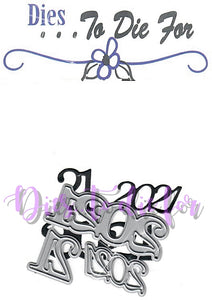 Dies ... to die for metal cutting die - 2021 year set - New Years, Graduation