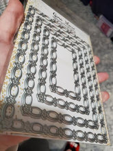 Load image into Gallery viewer, Gina Marie Metal cutting die - Flower Chain Rectangle die set