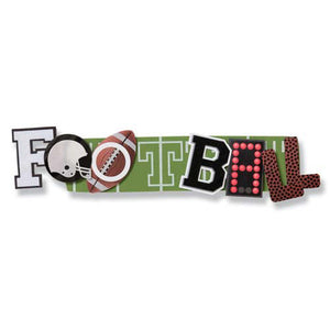 Football - Karen Foster stacked statement dimensional sticker