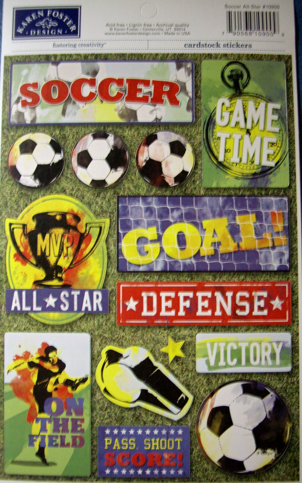 Soccer - Karen Foster Cardstock Sticker - soccer all star
