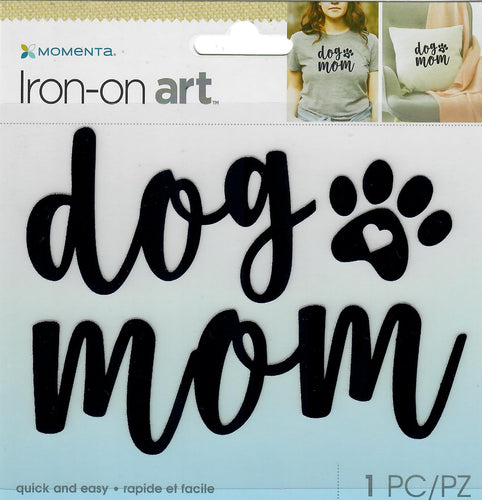 Momenta 4color Iron-on Art for fabric - Dog Mom