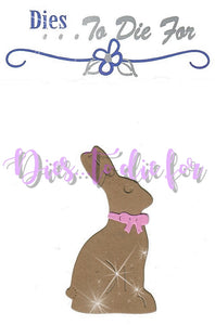 Dies ... to die for metal cutting die - Large Chocolate bunny
