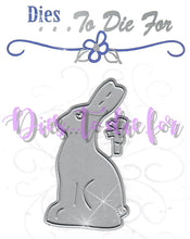 Load image into Gallery viewer, Dies ... to die for metal cutting die - Large Chocolate bunny