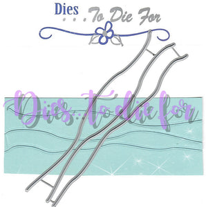 Dies ... to die for metal cutting die - Water / Snow edge border