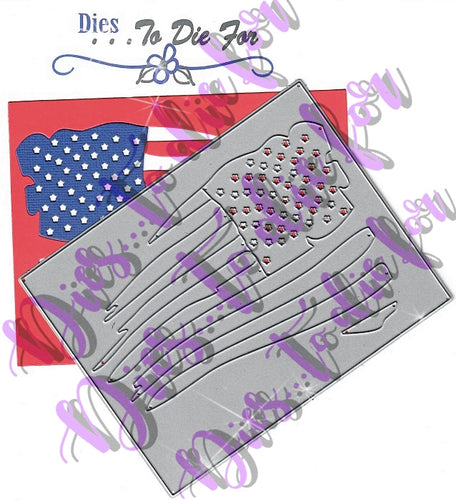 Dies ... to die for metal cutting die - Flag Background plate for A2 cards